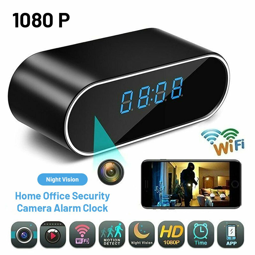 Home Office Security Camera Alarm Clock