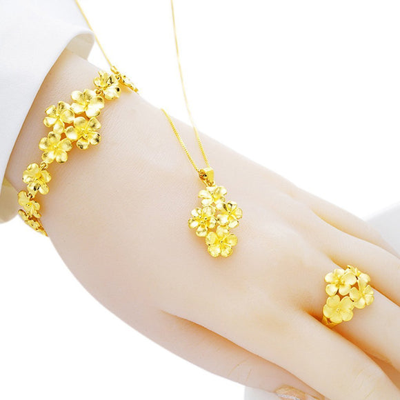 Gold jewelry flowers