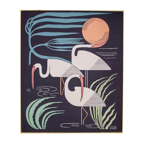 Ibis & Hurricane Framed Tapestry
