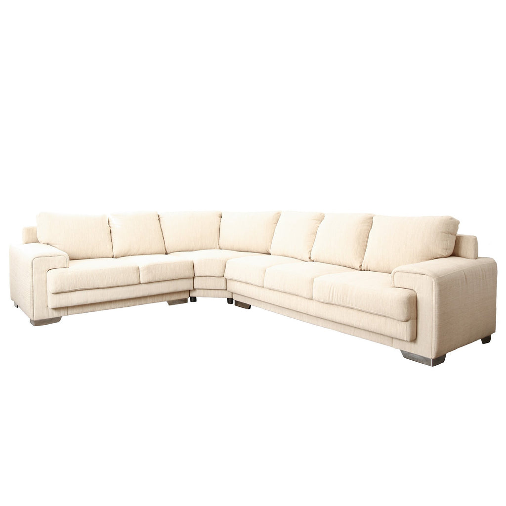 Off-White Reupholstered Sectional