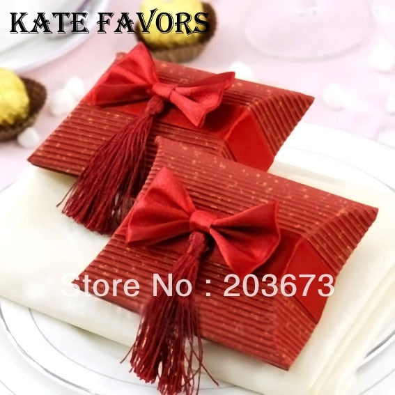 Pillow Boxes For Gifts,wedding Favors And Gift Bag Tassel,wedding Candy Box Gift Box 12pcs
