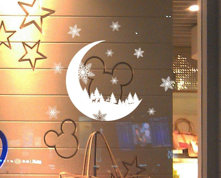 Christmas Snow Decoration Bedroom Wall Stickers