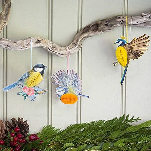 Honeycomb Parrots Hanging Decor Kids Birthday Baby Nursery Classroom 3 Eye-catching