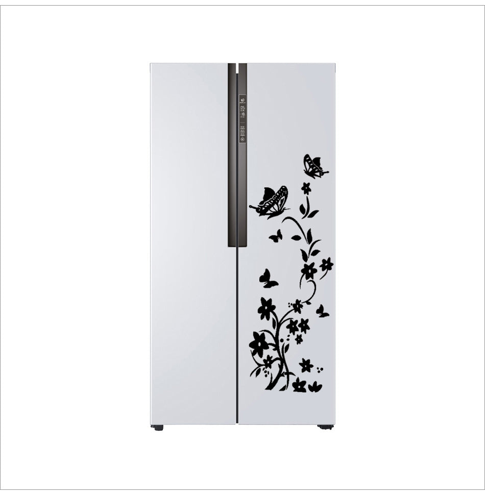 Sticker DIY butterflies flower art wall refrigerator