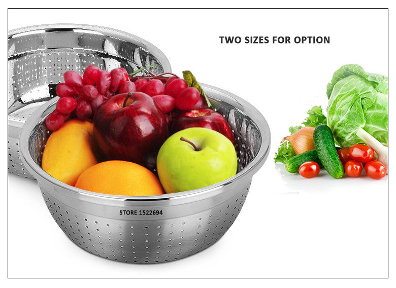 Stainless Steel Kitchen Colander Strainer Vegetable Fruit with High Quality