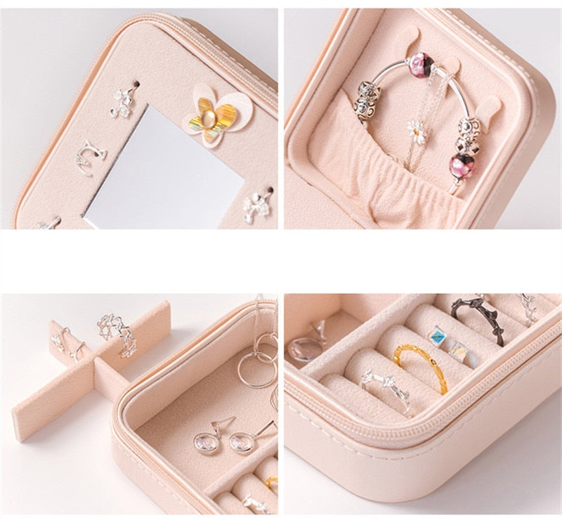 Jewelry Packaging Box For Exquisite Makeup Cosmetics Beauty Organizer Container Boxes Birthday Gift