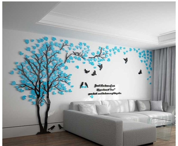 Tree Acrylic Decorative 3D Wall Sticker Poster