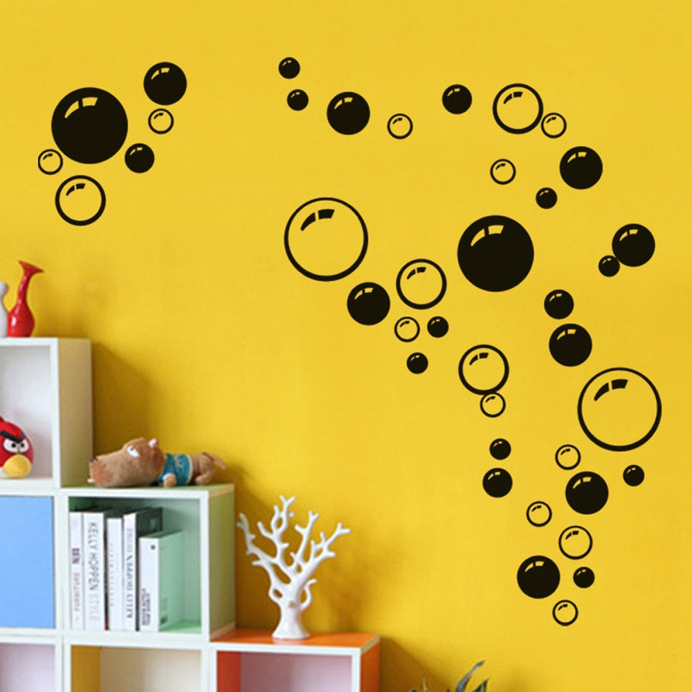 Circle Removable Wall Stickers Bathroom