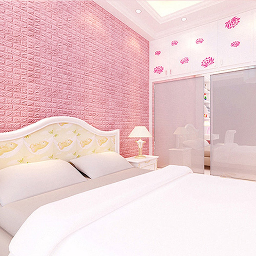 PE Foam 3D Wallpaper DIY Plane Wall Stickers