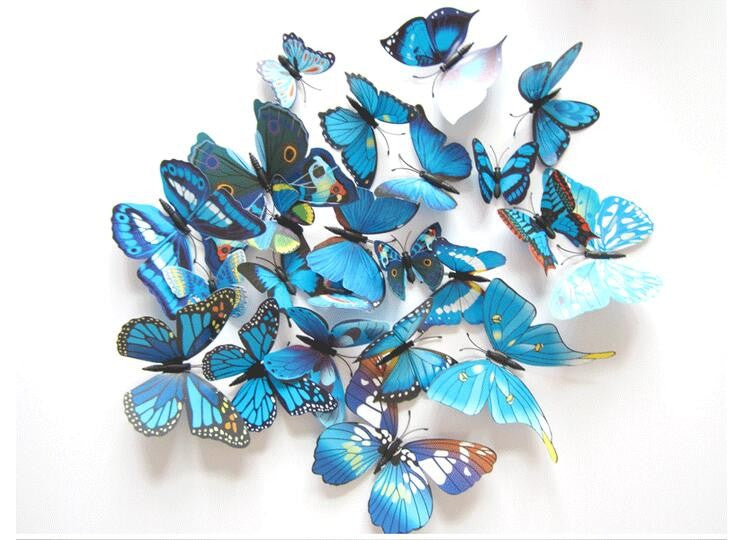3D Butterfly 12pcs Art Design decor Wall Sticker