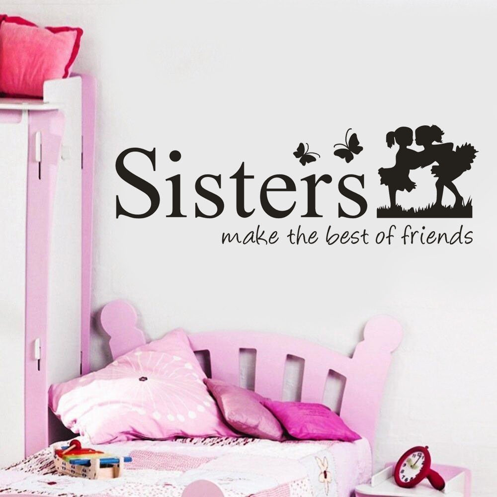 Stickers Sisters Wake The Best OF Friends Wall Decal Mural For Home Decor