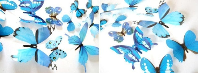 Butterfly DIY 12 Pcs Wall Stickers Spring Decoration
