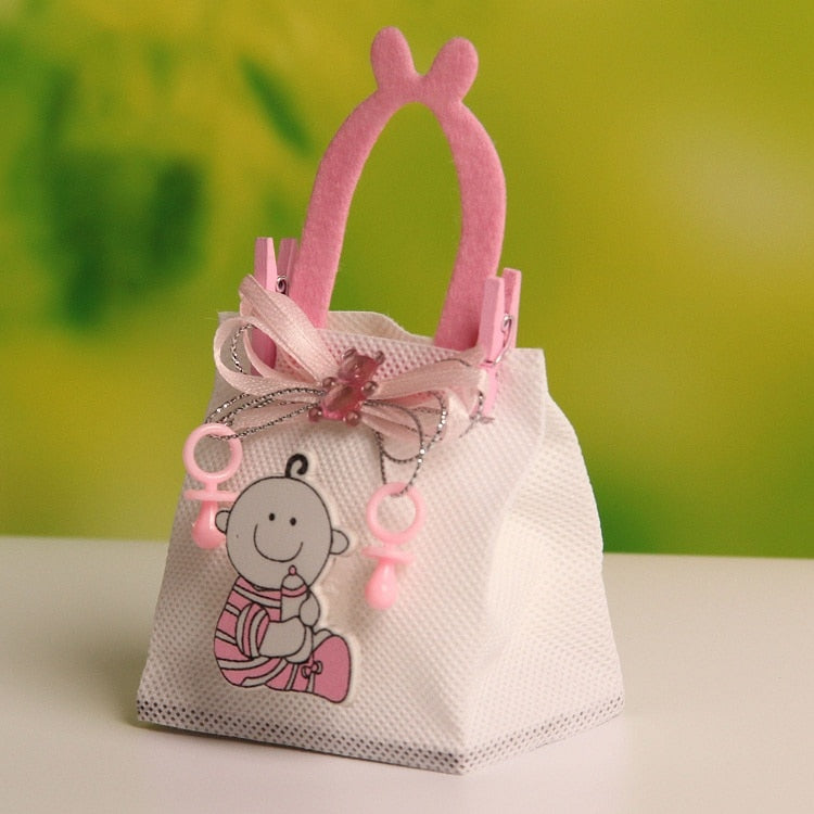 Baby Boy Figure Wedding Candy/Chocolate Bags Portable New!! 7.5*4.5*12cm 12pcs