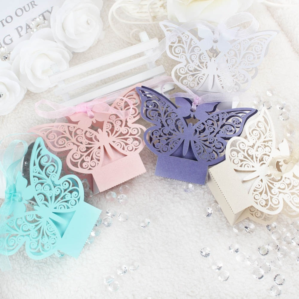 Colored Wedding Favors Paper Candy Bags Box Chocolate Gift Box