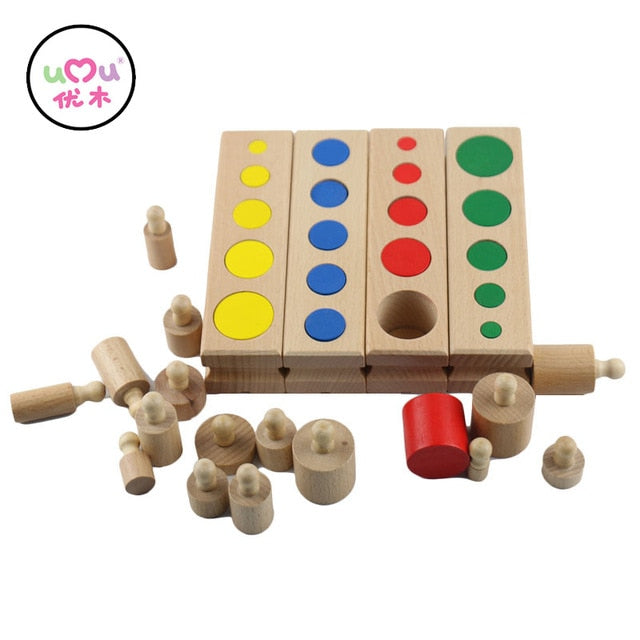 Toy Cylinder Block Materials Kids games ages 4 and up