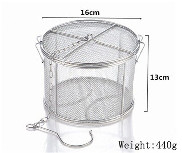 Basket pot Slag Separation Colander Strainer big 25*25cm 304 Stainless Steel