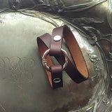Leather & Nickel Shawl Cuff