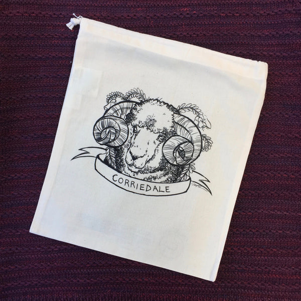 Corriedale Sheep Organic Cotton Project Bag