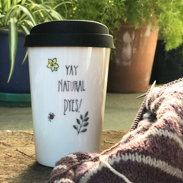 """Yay Natural Dyes!"" Pint Mug JaMpdx"