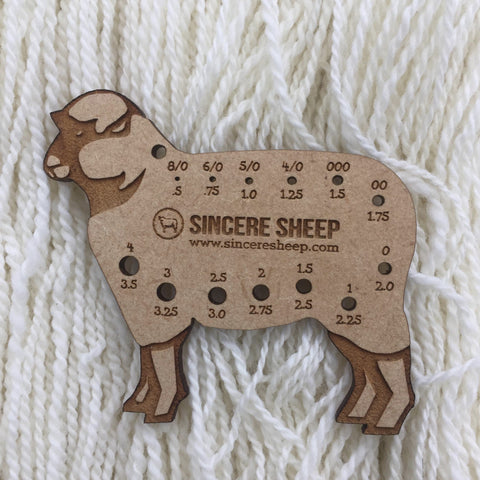 Wooden Sheep Sock Needle Gauge