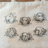 Sheep Portrait Organic Cotton Tote Bag