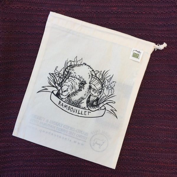 Rambouillet Organic Cotton Project Bag