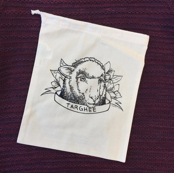 Targhee Sheep Organic Cotton Project Bag