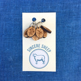 Natural Dye Plants Stitch Marker Set