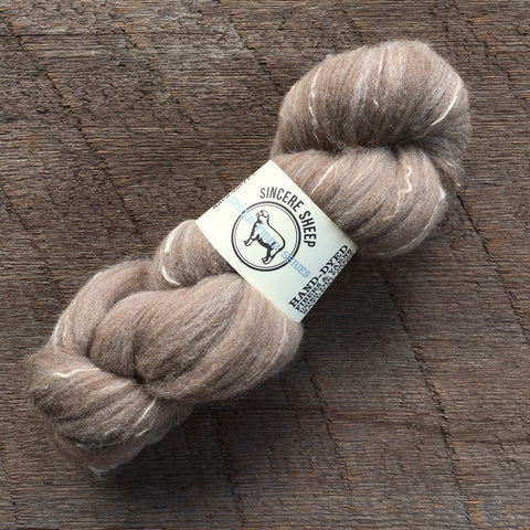 Moorit Romeldale Wool / Silk Roving