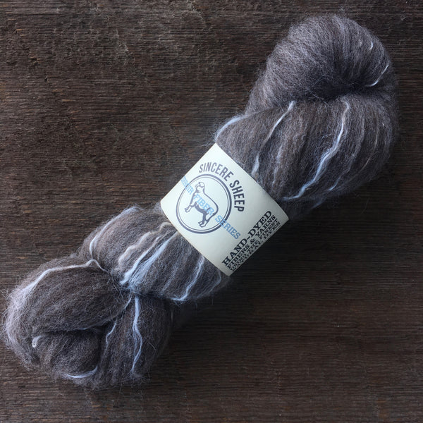 "Moorit Merino X ""Eva"" and Tussah Silk Roving"