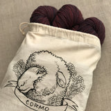 Sheep Breed & Fiber Friends Organic Cotton Project Bag