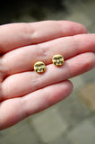 Gold Face Stud Earrings
