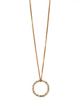 Hammered Circle Pendant Necklace (Gold / Silver)