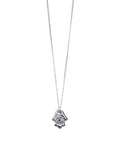 Evil Eye Hamsa Hand Necklace (Silver / Gold)