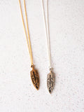 Tribal Arrowhead Necklace (Gold / Silver)