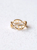 Gold Multi Evil Eye Band Ring