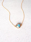 Gold Swarovski Crystal Necklace