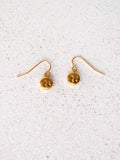 Gold Face Drop Earrings