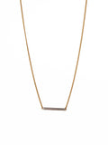 Smooth 14k Gold Filled Bar on Gold Chain Necklace