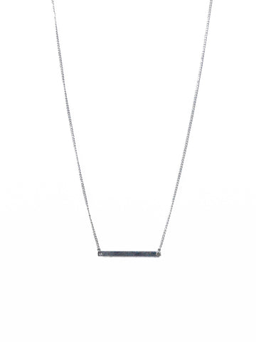 Smooth Sterling Silver Bar on Silver Chain Necklace