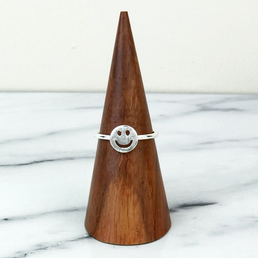 Smiley Face Emoji Sterling Silver Ring