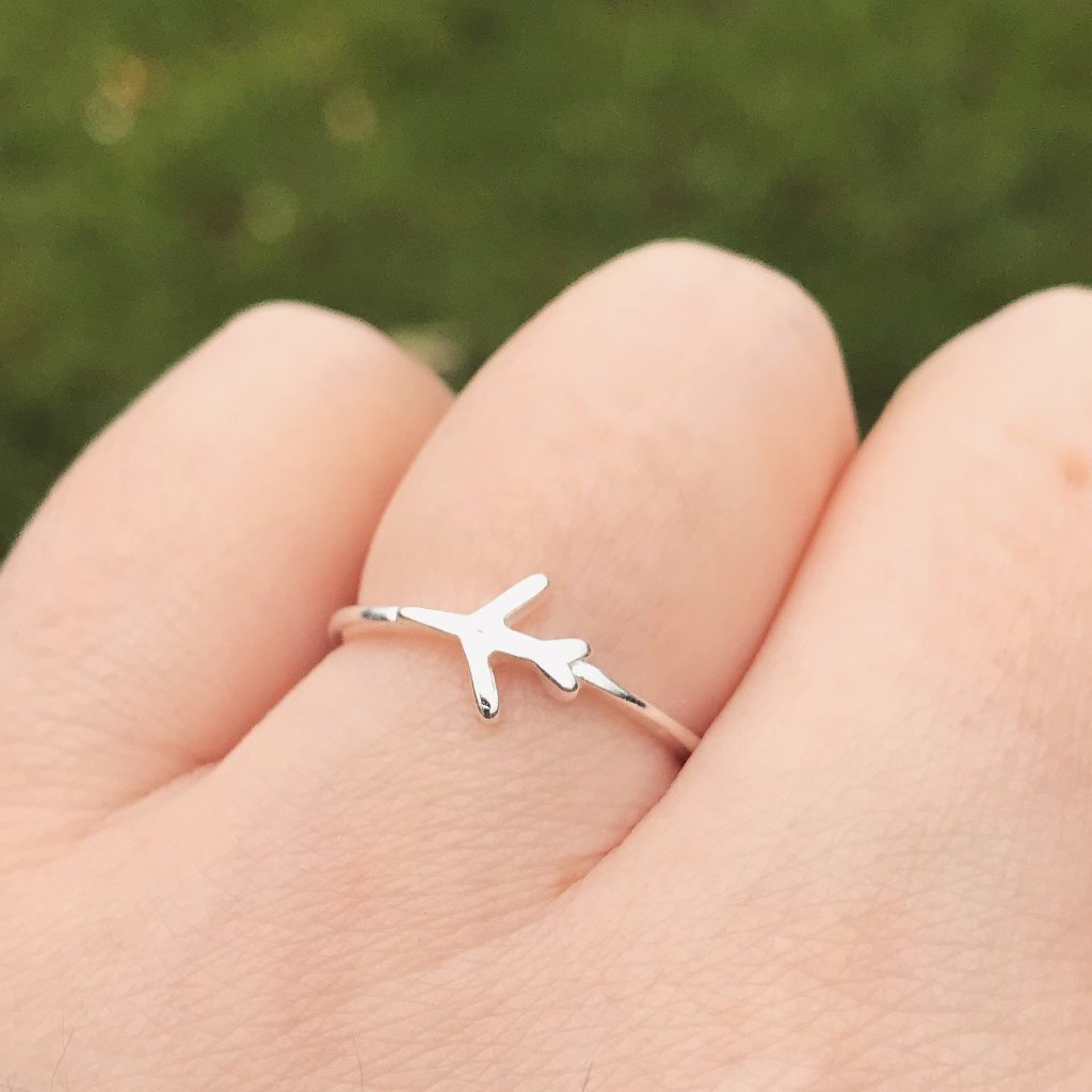Airplane Sterling Silver Ring