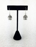 Silver Buddha Drop Earrings