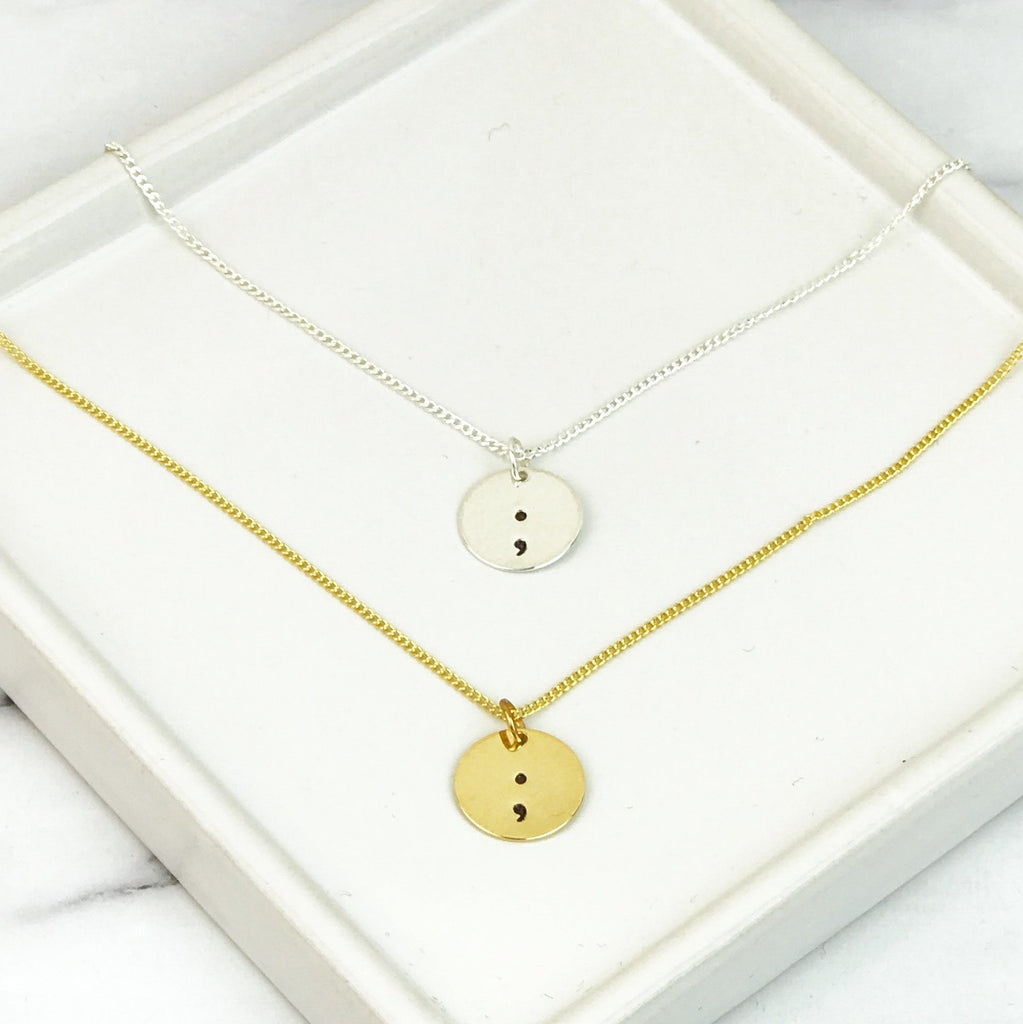 Semicolon Necklace (Gold / Silver)