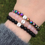 Semicolon Bead Bracelet [8 Bead Options]