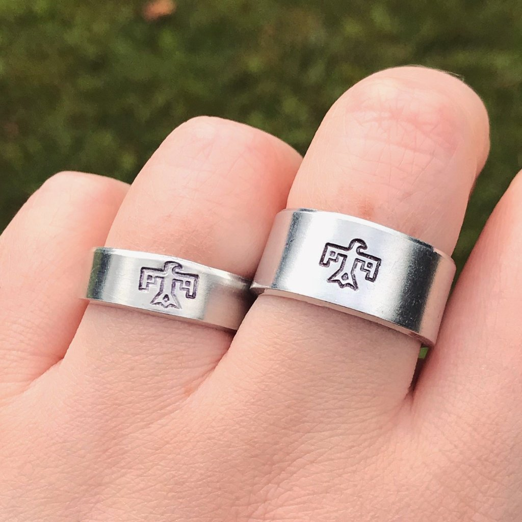 Silver Thunderbird Ring [Thick / Thin Options]