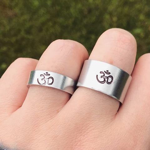 Silver Ohm Ring [Thick / Thin Options]