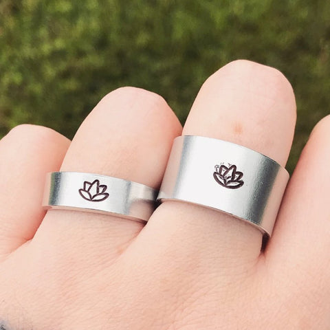 Silver Lotus Ring [Thick / Thin Options]