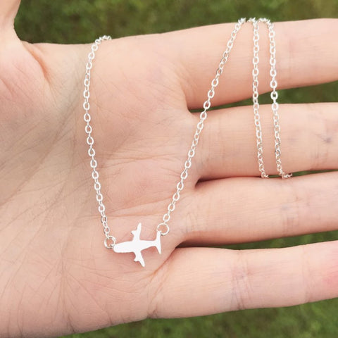 Airplane Sterling Silver Chain Necklace