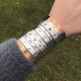 Music Note Symbol Cuff Bracelet [Silver / Gold / Copper]